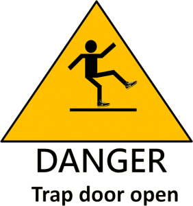 Danger Trapdoor warning