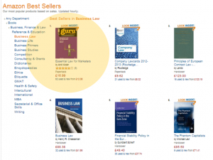 Best selling Business Law book on Amazon