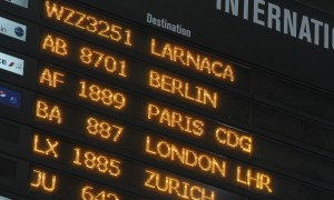 European flight destinations at Otopeni airport near Bucharest