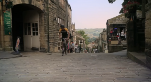 cyclist in Yorkshire