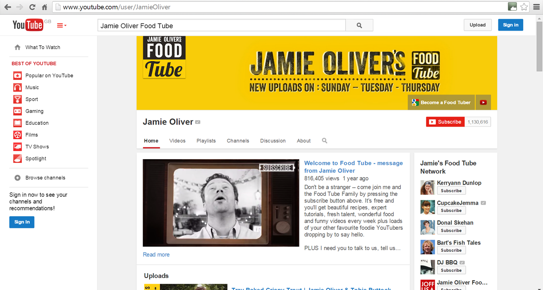 Jamie Oliver Food Tube