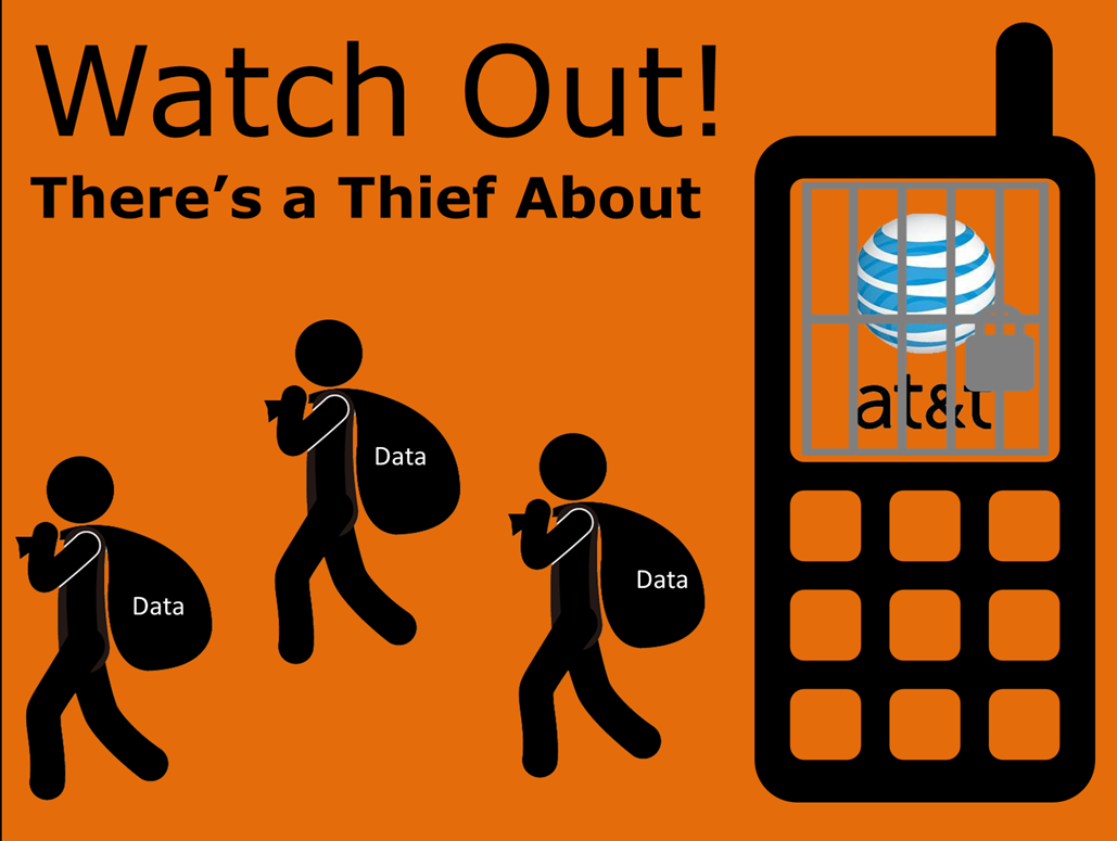 AT&T image of data theft