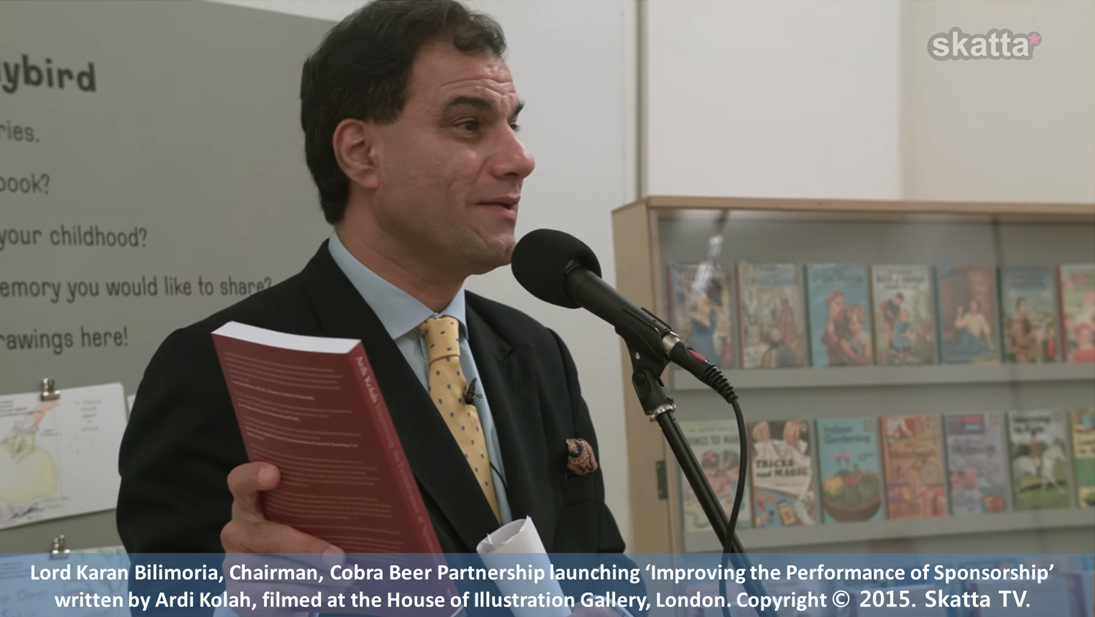 Lord Bilimoria launching Improving the Performance of Sponsorship